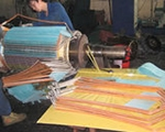 Rotor coil production process
